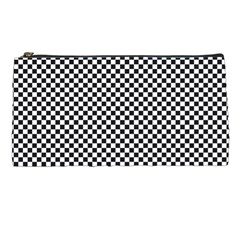 Sports Racing Chess Squares Black White Pencil Cases by EDDArt