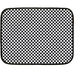 Sports Racing Chess Squares Black White Double Sided Fleece Blanket (mini)  by EDDArt