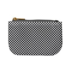 Sports Racing Chess Squares Black White Mini Coin Purses by EDDArt