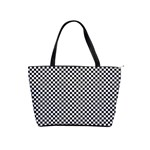 Sports Racing Chess Squares Black White Shoulder Handbags