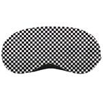 Sports Racing Chess Squares Black White Sleeping Masks