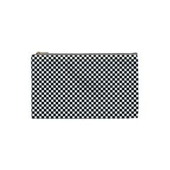 Sports Racing Chess Squares Black White Cosmetic Bag (small)  by EDDArt