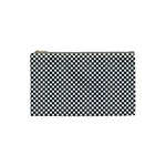 Sports Racing Chess Squares Black White Cosmetic Bag (Small)