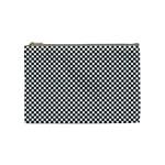 Sports Racing Chess Squares Black White Cosmetic Bag (Medium)
