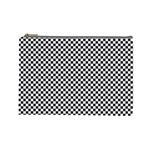 Sports Racing Chess Squares Black White Cosmetic Bag (Large)