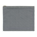 Sports Racing Chess Squares Black White Cosmetic Bag (XL)