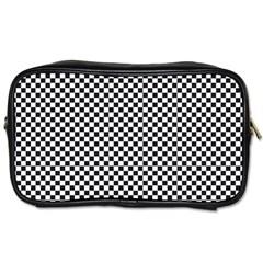 Sports Racing Chess Squares Black White Toiletries Bags 2 Side by EDDArt
