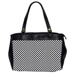 Sports Racing Chess Squares Black White Office Handbags (2 Sides)
