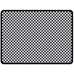 Sports Racing Chess Squares Black White Fleece Blanket (large)  by EDDArt