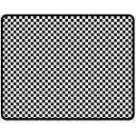 Sports Racing Chess Squares Black White Fleece Blanket (Medium)