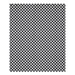 Sports Racing Chess Squares Black White Shower Curtain 60  x 72  (Medium)