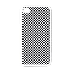 Sports Racing Chess Squares Black White Apple Iphone 4 Case (white) by EDDArt