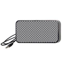 Sports Racing Chess Squares Black White Portable Speaker (black)  by EDDArt
