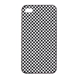 Sports Racing Chess Squares Black White Apple iPhone 4/4s Seamless Case (Black)