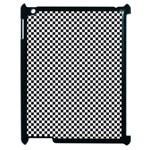 Sports Racing Chess Squares Black White Apple iPad 2 Case (Black)