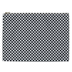 Sports Racing Chess Squares Black White Cosmetic Bag (xxl)  by EDDArt