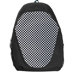Sports Racing Chess Squares Black White Backpack Bag by EDDArt