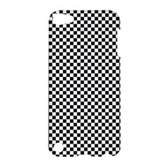 Sports Racing Chess Squares Black White Apple Ipod Touch 5 Hardshell Case by EDDArt