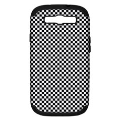 Sports Racing Chess Squares Black White Samsung Galaxy S Iii Hardshell Case (pc+silicone) by EDDArt
