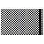 Sports Racing Chess Squares Black White Apple iPad 2 Flip Case