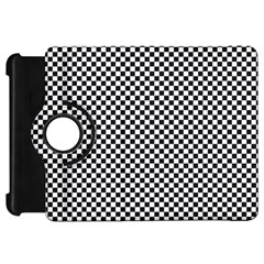 Sports Racing Chess Squares Black White Kindle Fire Hd Flip 360 Case by EDDArt