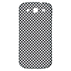 Sports Racing Chess Squares Black White Samsung Galaxy S3 S Iii Classic Hardshell Back Case by EDDArt