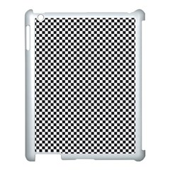 Sports Racing Chess Squares Black White Apple Ipad 3/4 Case (white) by EDDArt
