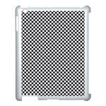 Sports Racing Chess Squares Black White Apple iPad 3/4 Case (White)