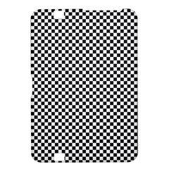 Sports Racing Chess Squares Black White Kindle Fire Hd 8 9  by EDDArt