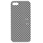 Sports Racing Chess Squares Black White Apple iPhone 5 Hardshell Case with Stand