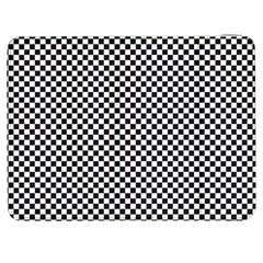 Sports Racing Chess Squares Black White Samsung Galaxy Tab 7  P1000 Flip Case by EDDArt