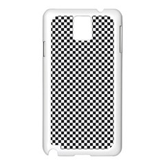 Sports Racing Chess Squares Black White Samsung Galaxy Note 3 N9005 Case (white) by EDDArt