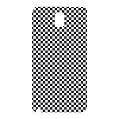 Sports Racing Chess Squares Black White Samsung Galaxy Note 3 N9005 Hardshell Back Case by EDDArt
