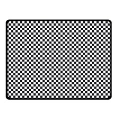 Sports Racing Chess Squares Black White Double Sided Fleece Blanket (small)  by EDDArt