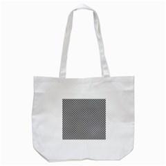 Sports Racing Chess Squares Black White Tote Bag (white) by EDDArt