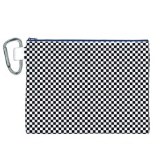 Sports Racing Chess Squares Black White Canvas Cosmetic Bag (xl) by EDDArt