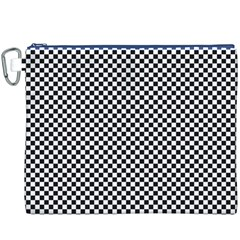 Sports Racing Chess Squares Black White Canvas Cosmetic Bag (xxxl) by EDDArt