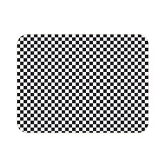 Sports Racing Chess Squares Black White Double Sided Flano Blanket (mini)  by EDDArt