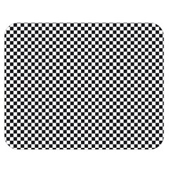 Sports Racing Chess Squares Black White Double Sided Flano Blanket (medium)  by EDDArt