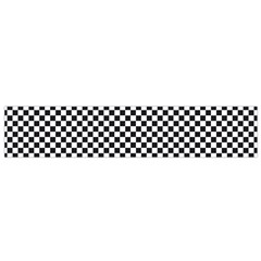 Sports Racing Chess Squares Black White Flano Scarf (small) by EDDArt