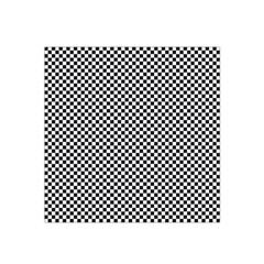 Sports Racing Chess Squares Black White Satin Bandana Scarf by EDDArt