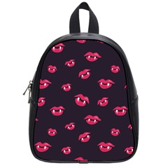 Pattern Of Vampire Mouths And Fangs School Bags (small)  by CreaturesStore