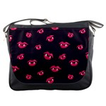 Pattern Of Vampire Mouths And Fangs Messenger Bags