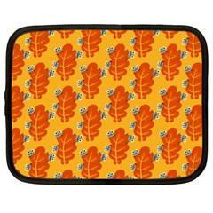 Bugs Eat Autumn Leaf Pattern Netbook Case (xl)  by CreaturesStore