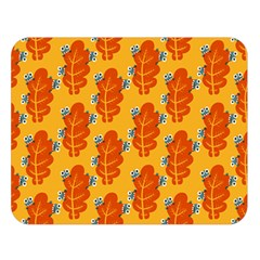 Bugs Eat Autumn Leaf Pattern Double Sided Flano Blanket (large)  by CreaturesStore