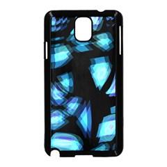 Blue Light Samsung Galaxy Note 3 Neo Hardshell Case (black) by Valentinaart