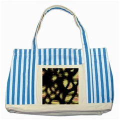 Follow The Light Striped Blue Tote Bag by Valentinaart