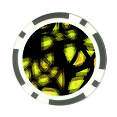 Yellow Light Poker Chip Card Guards (10 Pack)  by Valentinaart