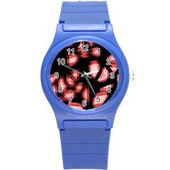 Red Light Round Plastic Sport Watch (s) by Valentinaart