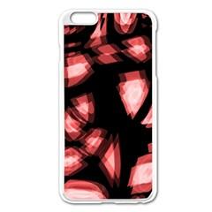 Red Light Apple Iphone 6 Plus/6s Plus Enamel White Case by Valentinaart